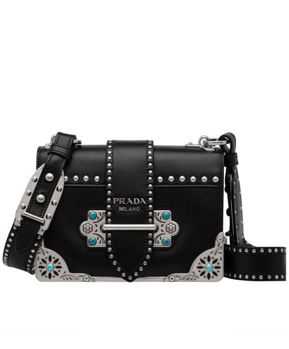 Prada cahier studded calf leather bag 2 colors