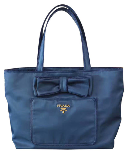 Prada canvas tote bag with bowknot 3 colors