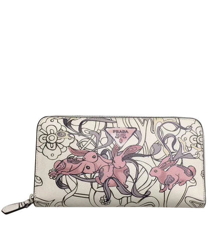 Prada Printed Leather Wallet Pink