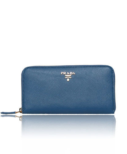 Prada Zippy Wallet Blue