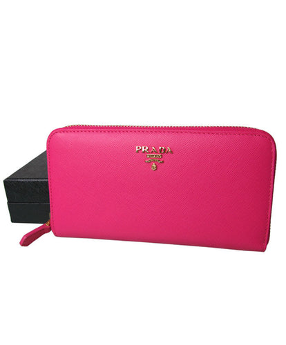 Prada Zippy Wallet Peachblow