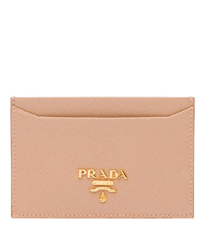 Prada logo card holder Beige
