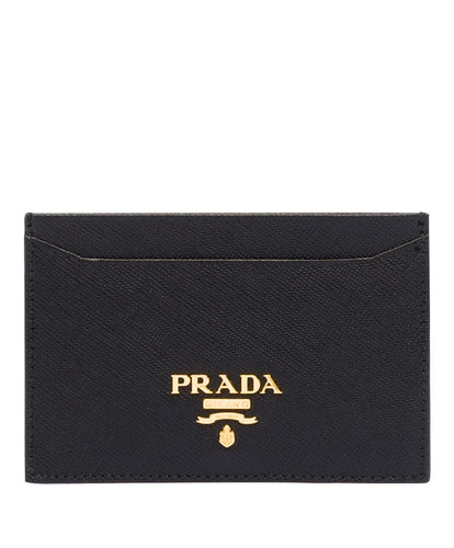 Prada logo card holder Black