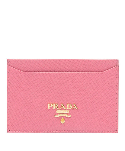 Prada logo card holder Pink