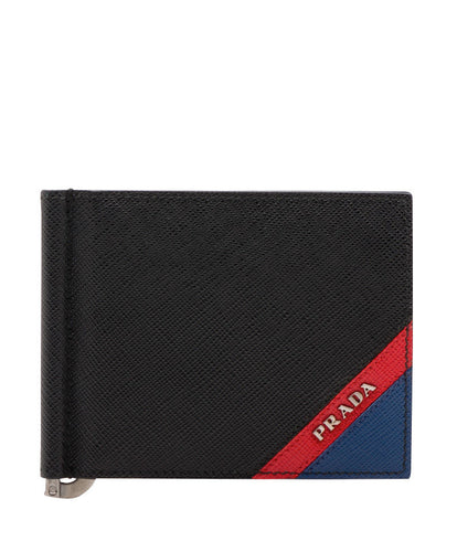 Prada Saffiano Leather Wallet Red