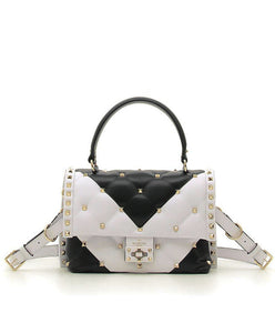 Valentino Candystud Handle Bag White