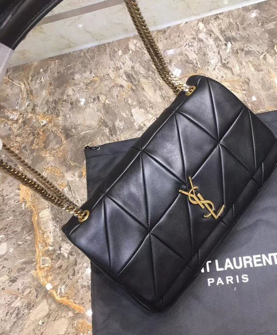 ... Saint Laurent Jamie Medium Carre Rive Gauche Black ... d1bbd0e78c002
