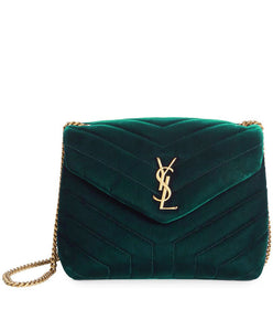 21119ce237 Saint Laurent Loulou Small Monogram Matelasse Velvet Chain Shoulder Bag 4  colors