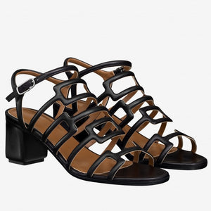 Hermes Oracle Sandals In Black Leather