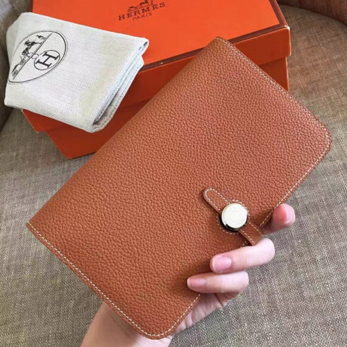 Hermes Gold Dogon Duo Combined Wallet 2 Hardware Color