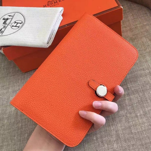 Hermes Orange Dogon Duo Combined Wallet 2 Hardware Color