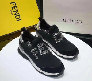 Fendi Studs Sneakers in Technical Fabric 2 colors 2018