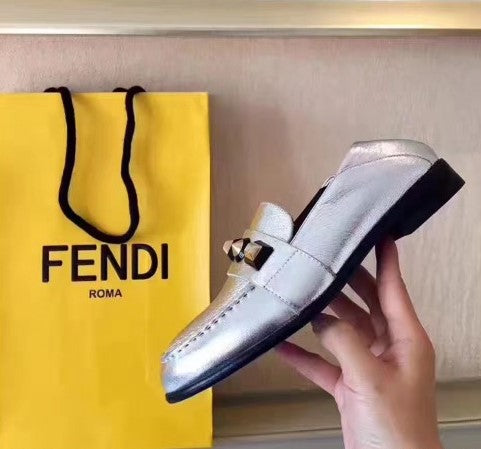Fendi Studs Calfskin Loafers 3 colors