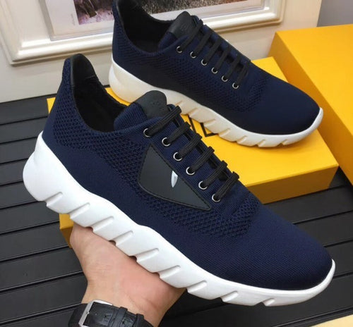 Fendi Running Shoes in Fabric and Leather With Monster Eyes For Men 2 colors