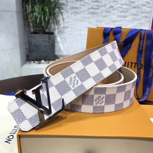 Louis Vuitton LV Initiales 40MM Belt Damier Azur Canvas 3 colors