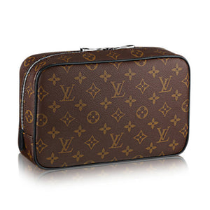 Louis Vuitton Toilet Pouch GM Monogram Macassar Canvas