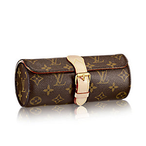 Louis Vuitton 3 Watch Case Monogram Canvas