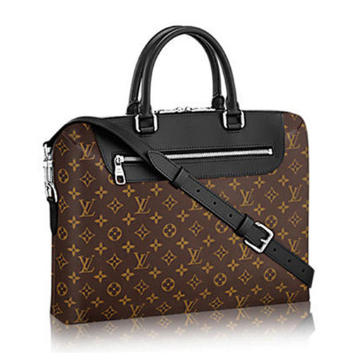 Louis Vuitton Porte-Documents Jour Briefcase Monogram Macassar Canvas