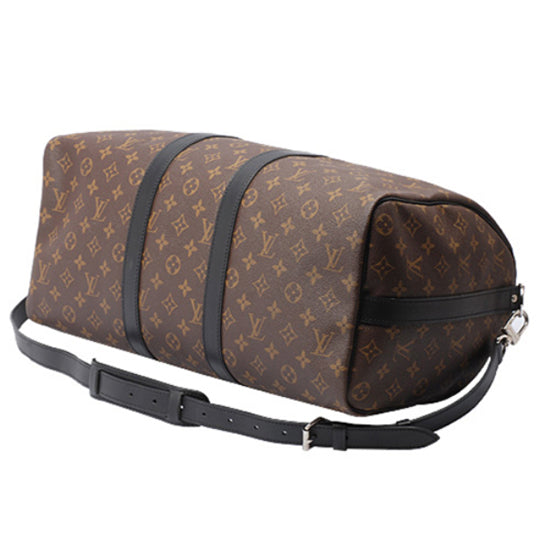 890e77c6d3f9 ... Louis Vuitton Keepall Bandouliere 45 Duffel Bag Damier Ebene Canvas 3  colors ...