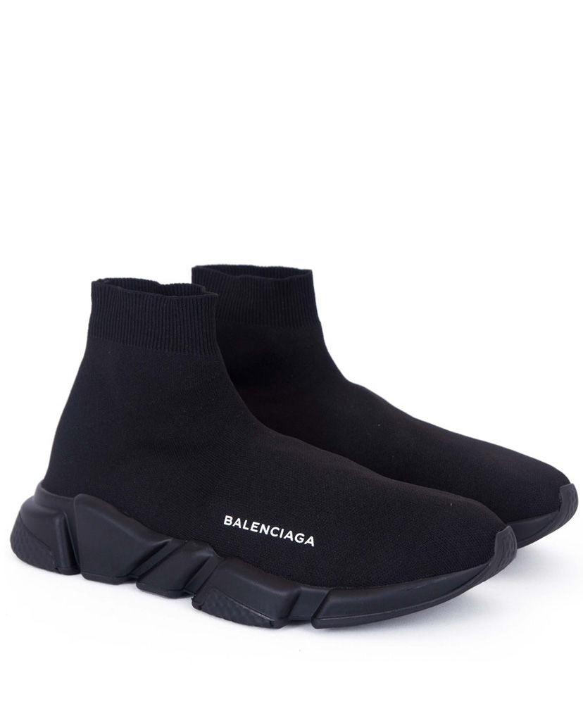 Balenciaga Unisex Knit High-Top Sneakers Black