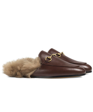 Gucci Princetown Leather Slipper Brown