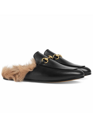 Gucci Princetown Leather Slipper Black