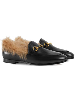 Gucci Jordaan Wool Loafer Black