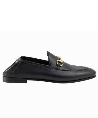 Gucci Leather Horsebit Loafer Black