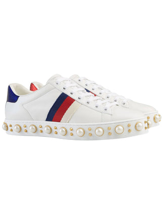 Gucci Women's Ace studded sneaker White