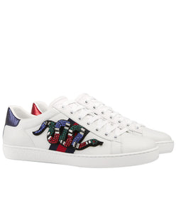 Gucci Unisex Ace embroidered sneaker White