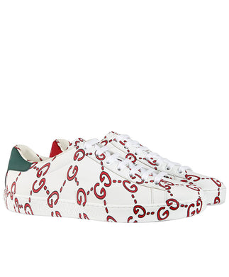 Gucci Unisex Ace sneaker with GG print White