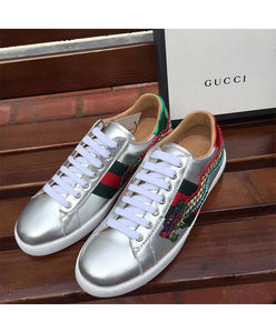 Gucci Unisex Ace embroidered sneaker Silver