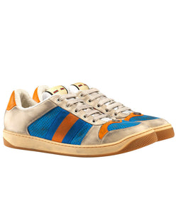 Gucci Sneaker Screener In Pelle Blue