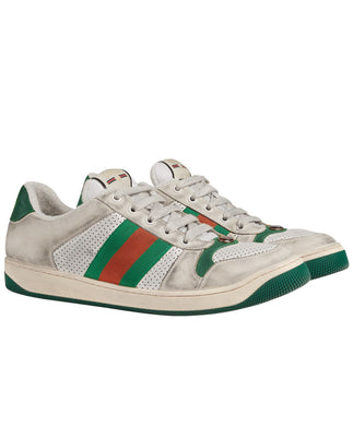 Gucci Sneaker Screener In Pelle Green
