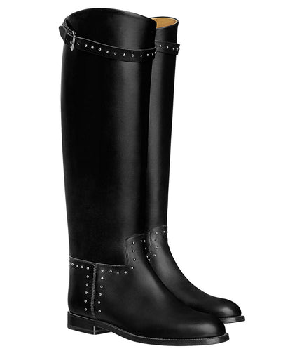 Hermes Women's Bardigiano Boot Black