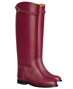Hermes Women's Bardigiano Boot Red
