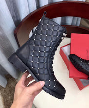 Combat Boot Rockstud Spike Black