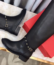 Valentino Garavani Studded Leather Knee Boots