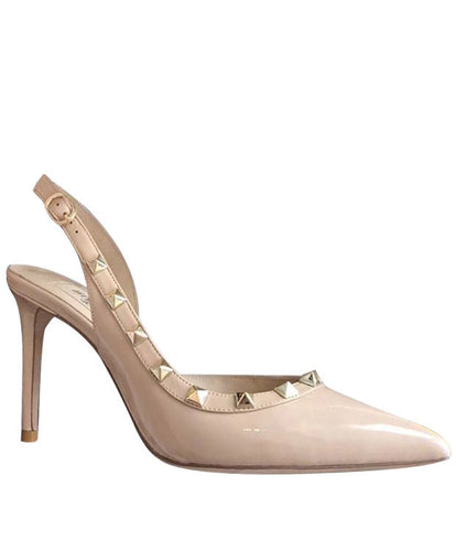 Valentino Women's Leather Pumps Apricot
