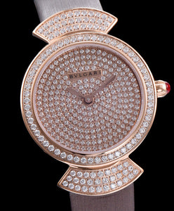 Bvlgari s Lady Diamond Automatic Watch Light Coffee
