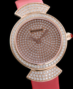 Bvlgari s Lady Diamond Automatic Watch Red