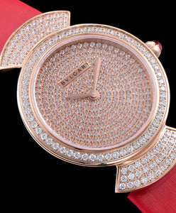 Bvlgari s Lady Diamond Automatic Watch Red - hn4us