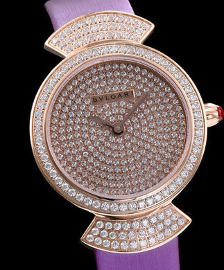 Bvlgari s Lady Diamond Automatic Watch Purple