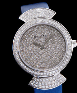 Bvlgari s Stainless Steel Lady Diamond Watch Blue