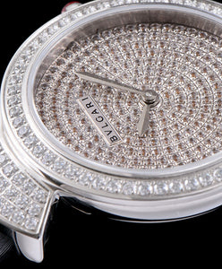 Bvlgari s Stainless Steel Lady Diamond Watch Black