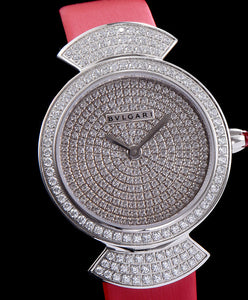 Bvlgari s Stainless Steel Lady Diamond Watch Red