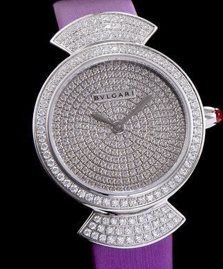 Bvlgari s Stainless Steel Lady Diamond Watch Purple
