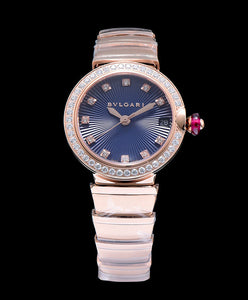 Bvlgari Lvcea Diamonds Automatic Watch Blue