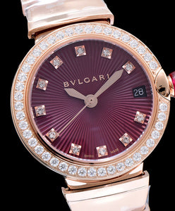 Bvlgari Lvcea Diamonds Automatic Watch Purple