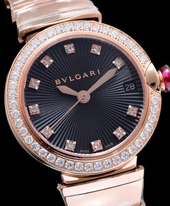 Bvlgari Lvcea Diamonds Automatic Watch Black
